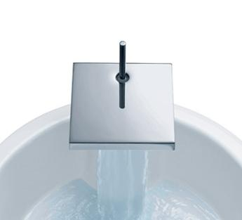 hansgrohe starck x waterfall faucet Axor Starck X   experience the ritual significance of water