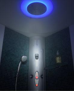WellSpring Steam Shower by Hansgrohe Pharo brand – steam bathing with chromotherapy