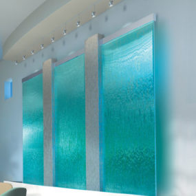 Indoor Waterfall from Harmonic Environments – custom interior waterfalls