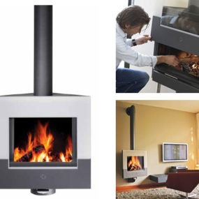 Contemporary Stove by Harrie Leenders – Canta W suspended stove rotates