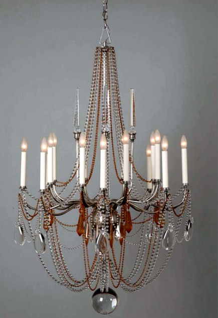 hart associates crystal chandelier 4273 Crystal Chandelier from Hart Associates