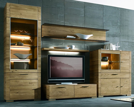 hartmann wall unit cubo 1 Wall Unit by Hartmann   Cubo modern wall units in solid wood design