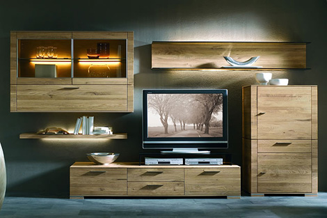 hartmann wall unit cubo 2 Wall Unit by Hartmann   Cubo modern wall units in solid wood design