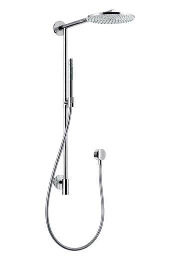 hasgrohe raindance connect showerpipe Hansgrohe Raindance Connect Showerpipe   converts into showerhead with a click