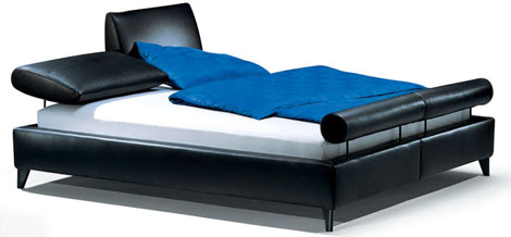 hausscape bed morfeo Contemporary Leather Bed from HausScape   Morfeo bed