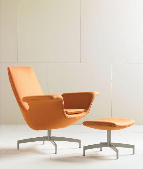 hbf dialogue lounge chair ottoman Lounge Seating by HBF   the new Dialogue chair and ottoman