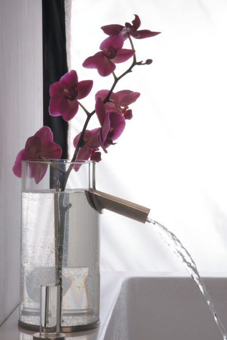 hegowaterdesign faucet flower 1 Glass Bathroom Faucet Flower – faucet & vase combination
