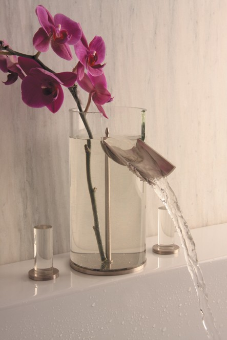 hegowaterdesign faucet flower 2 Glass Bathroom Faucet Flower – faucet & vase combination