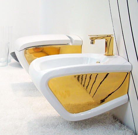 hidra hi line toilet bidet gold Luxury Bath Fixtures from Hidra