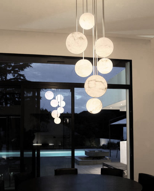 high end pendant lights atelier alain ellouz harmonie 10 chandelier 1