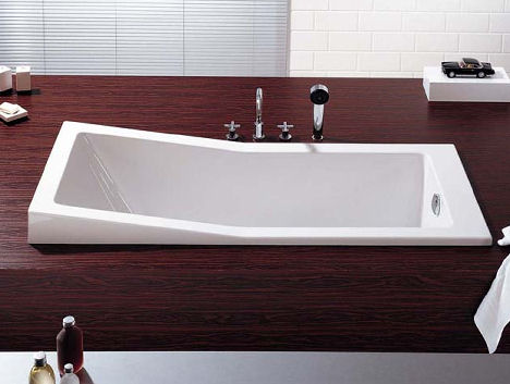 New Foster Bathtub from Hoesch  the modern seated bath tub by Norman Foster