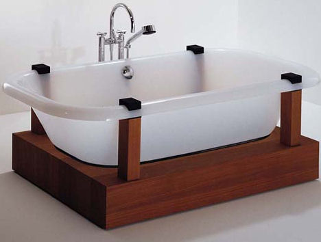Free Bathtub from Hoesch  the contemporary freestanding tub by Adolph Babel