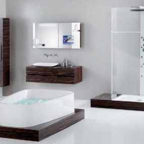 Hoesch SingleBath bathroom suite – Mirror TV Cabinet – man's dream bathroom?