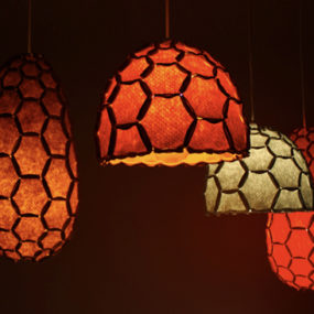 Honeycomb Lamp Shades by DesignTree