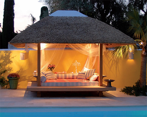 honeymoonfurnbed Luxury Gazebo from Honeymoon   water proof gazebos
