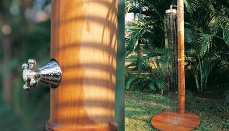 honeymshower Outdoor Shower from Honeymoon   Waimea wood shower