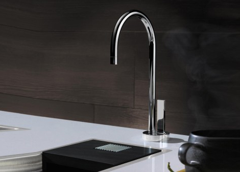 KitchenElectrolux 4Springs kitchen faucet brings you cold  filtered water  . Filtered Water Dispenser Faucet. Home Design Ideas