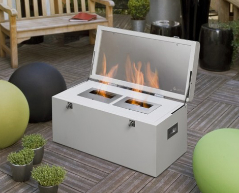 hot fireplace design ideas chest atria 1 Hot Fireplace Design Ideas – chest mobile fireplace by Atria