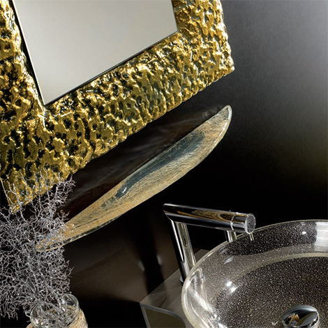 House Design matching soap shelf in gold