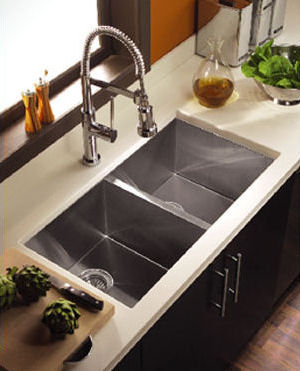 Zero Radius Sink From Houzer The Contempo Sink Series - Houzer kitchen sink
