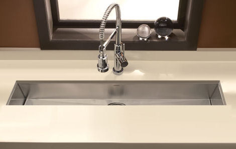 Houzer Zero Radius Undermount Trough Bar / Prep Sink