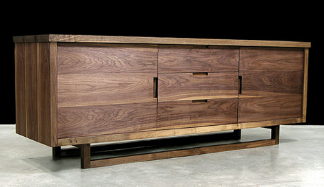modern wooden furniture. Hudson-furniture-low-console.jpg Modern Wooden Furniture
