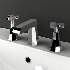 Belmondo bathroom faucet from IB Rubinetterie – the art-deco style