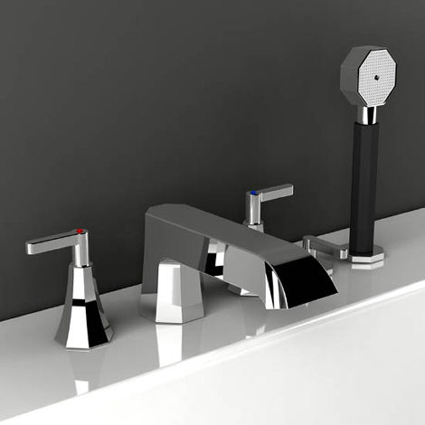 Belmondo bathroom faucet from IB Rubinetterie - the art-deco style