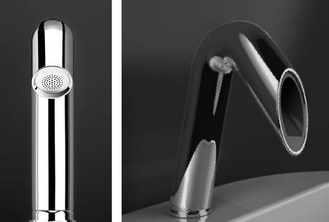 ib rubinetterie onlyone faucet bended Onlyone bathroom faucet from IB Rubinetterie   a pivoting faucet