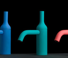 Colored Faucet and Shower from iB Rubinetterie – Batlo and Drop