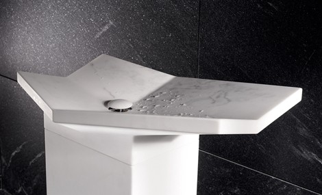 Iconci Free Standing Sink Fold Marble 2