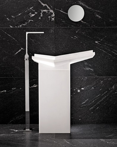 iconci free standing sink fold marble 3 Free Standing Sink   Fold marble sinks from I Conci