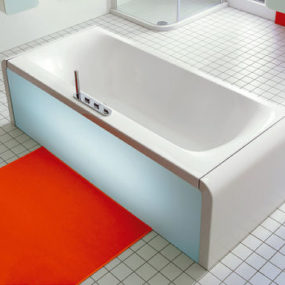 Ideal Standard Bathtub – Moments bathtub with pull-out drawers or illuminated front panel