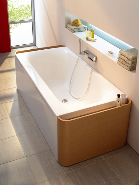 ideal standard moments bathtub1 Ideal Standard Bathtub   Moments bathtub with pull out drawers or illuminated front panel