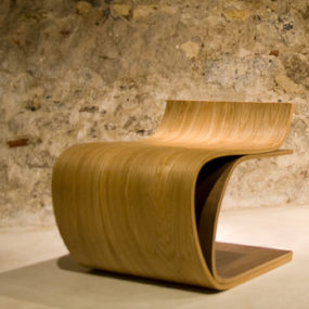 Minimalist Wood Furniture – Minimalist Chair 'Leaf' by ilio