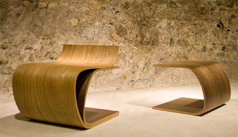 ilio minimalist wood furniture chair leaf 3