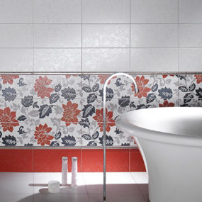 Decorative Tiles from Ceramica D'Imola – Jabot floral pattern ceramic tile