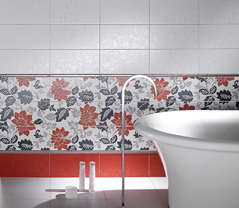 imotil3081 Decorative Tiles from Ceramica DImola   Jabot floral pattern ceramic tile