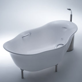 Unusual Bathtub with Foamy Water