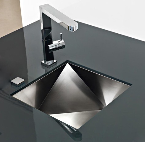 innovative sinks franke polyedra 1 Innovative Sinks by Franke   new Polyedra 3d artistic sink design