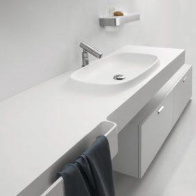 Integral Sink Countertop from Agape – new Desk is an Exmar countertop