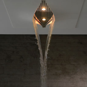 Integrated Shower Head by Zazzeri: a 'crack in the ceiling'