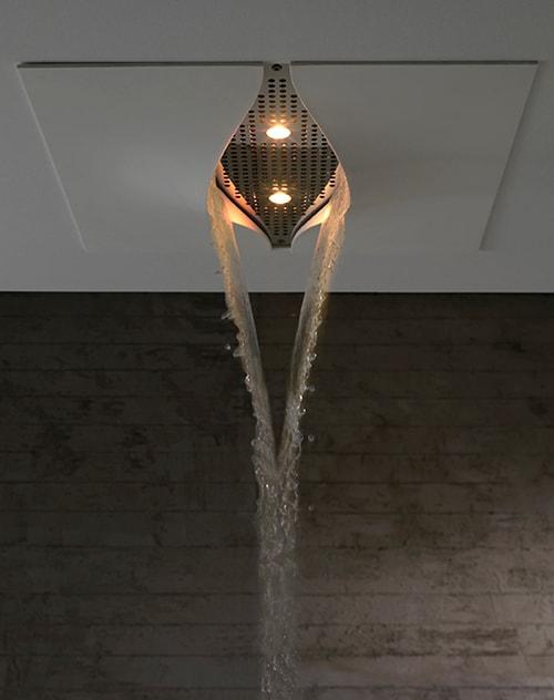 integrated shower head zazzeri virgin 1 Integrated Shower Head by Zazzeri: a crack in the ceiling