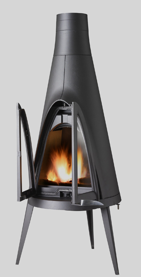 invicta fireplace tipi 2 Rustic Wood Fireplace by Invicta – Tipi