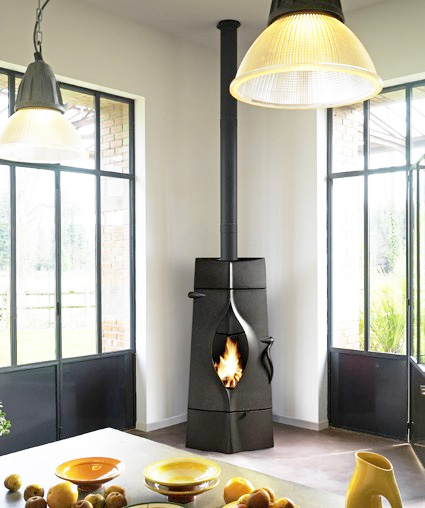 invicta woodstove oracle 1 Modern Wood Stoves from Invicta France   new Gaya and Oracle