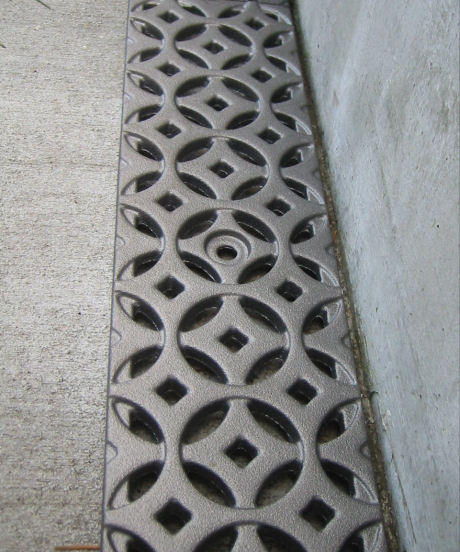 iron age design cast metal grates Decorative Drain Grate by Iron Age Design   cast metal grates