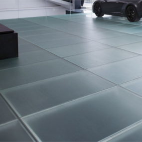 Italian Glass Flooring by Vitrealspecchi