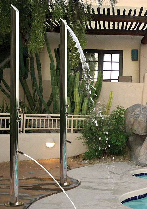 jaclo outdoor showers adagio Outdoor Stainless Steel Shower by Jaclo   new fashionable showers