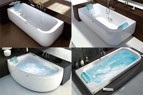 jacuzzi aquasoul versions Designer Bathtub from Jacuzzi Europe by Carlo Urbinati   new clean modern bathtubs