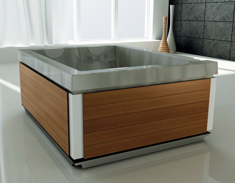 jacuzzi bathtub unique 1 Freestanding Whirlpool Bath from Jacuzzi   new Unique hydromassage bath